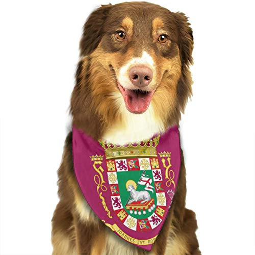 DOGPETROOM Coat of Arms of The Commonwealth of Puerto Rico Pet Dog Cat Pig Puppy Bandana Triangle Head Scarf Bib Scarf Accessories