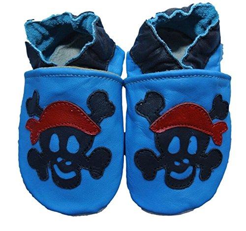 weiche Leder Baby Schuhe für Jungen Jolly Roger Pirat prElAYj1