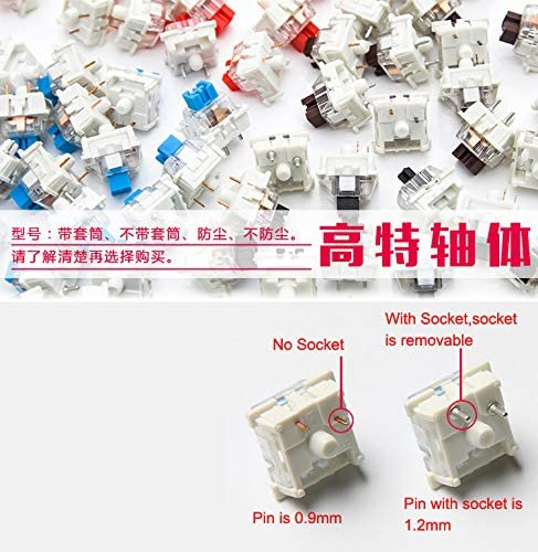200 pcs Outemu SMD RGB 3 pin MX Interruttore Blu Nero Rosso Marrone OTM per GK61 GK64 MX Tastiera Meccanica Blu senza presa