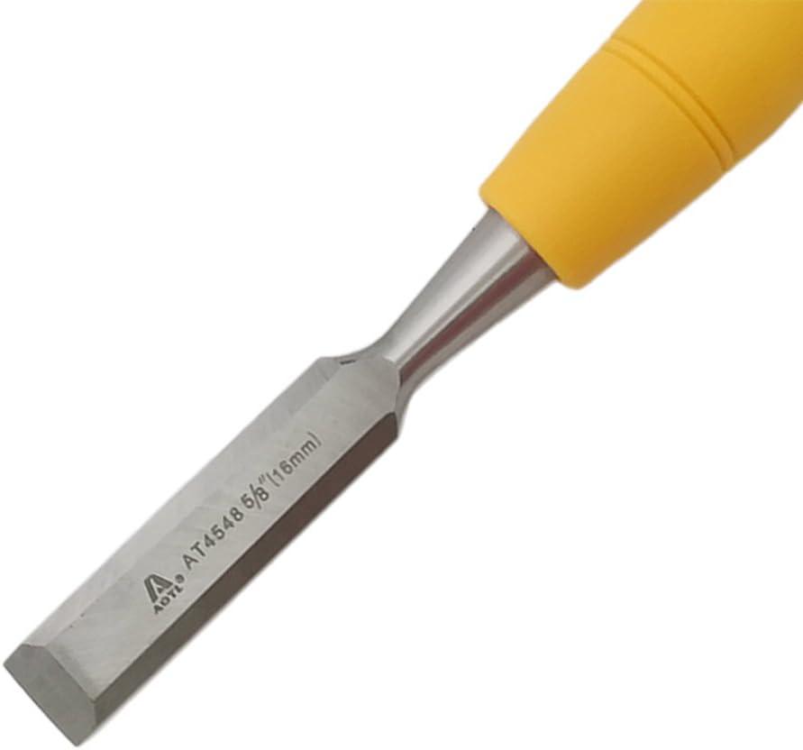 6 mm Fenteer Cincel de Madera Metal con Mango de Pl/ástico Herramienta Universal para Cincelar
