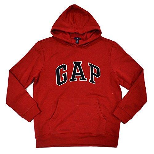 GAP Mens Fleece Arch Logo Pullover Hoodie (True Red, True Red, Size ()
