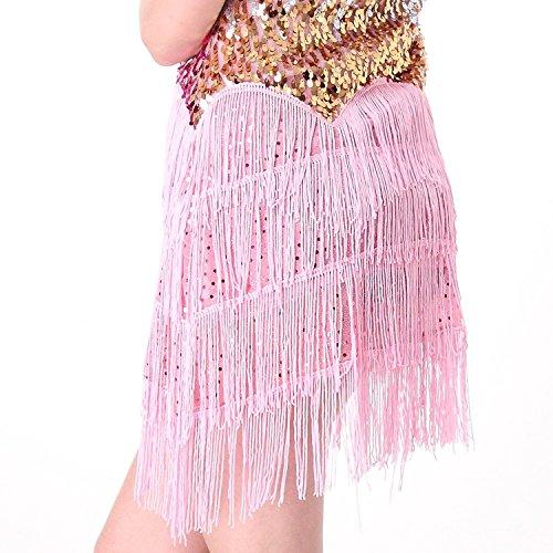 ... SymbolLife Fransenkleid mit Pailletten Damen Spaghetti Gradient Tanz  Damen Hochzeitkleid Tanzkleid Partykleid Mini Charleston kleider Kleid e8cc98d033
