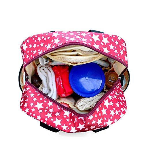 doxungo bebé pañales mochila multifunción resistente al agua bolsas de pañales para cuidado del bebé Mamá Bolso Mochila Bolsa marrón marrón azul