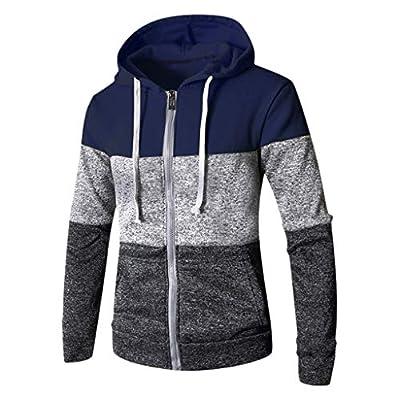 WILLBE Men's Fashion Jacket Autumn and Winter Hooded Jacket Blouse Zipper Jacket Long Sleeved Jacket Men's Sweater Top