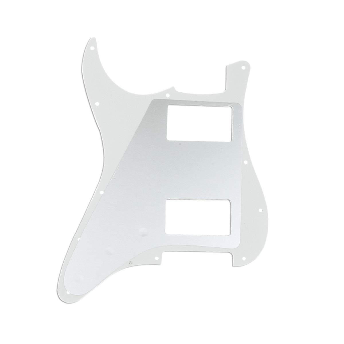 Musiclily Pro 11 Agujeros HH Strat Pickguard Humbucker Golpeador para Guitarra Fender American//M/éxico Standard Stratocaster Estilo Moderno 3 capas Marfil