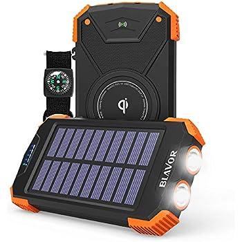 Amazon Com Solar Charger 10000mah Solar Power Bank