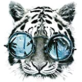 HMQD Tiger Patch Iron on Transfers For T shirt Clothes Men's Vinyl Thermal Heat Transfer Sticker Applique Paste
