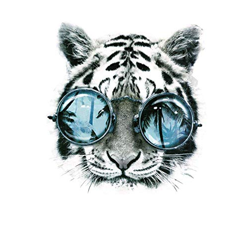 HMQD Tiger Patch Iron on Transfers For T shirt Clothes Men