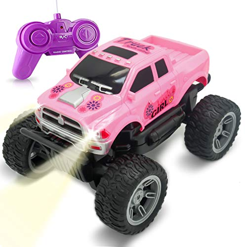 Remote Control Car Toy -Princess Style RC Truck & Jeep with Off Road Grip Tires for Girls Ages 5 Year + (Pink)