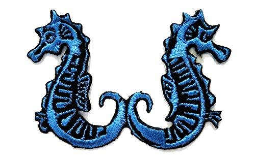Nipitshop Patches Blue Seahorse sea Horse Fish