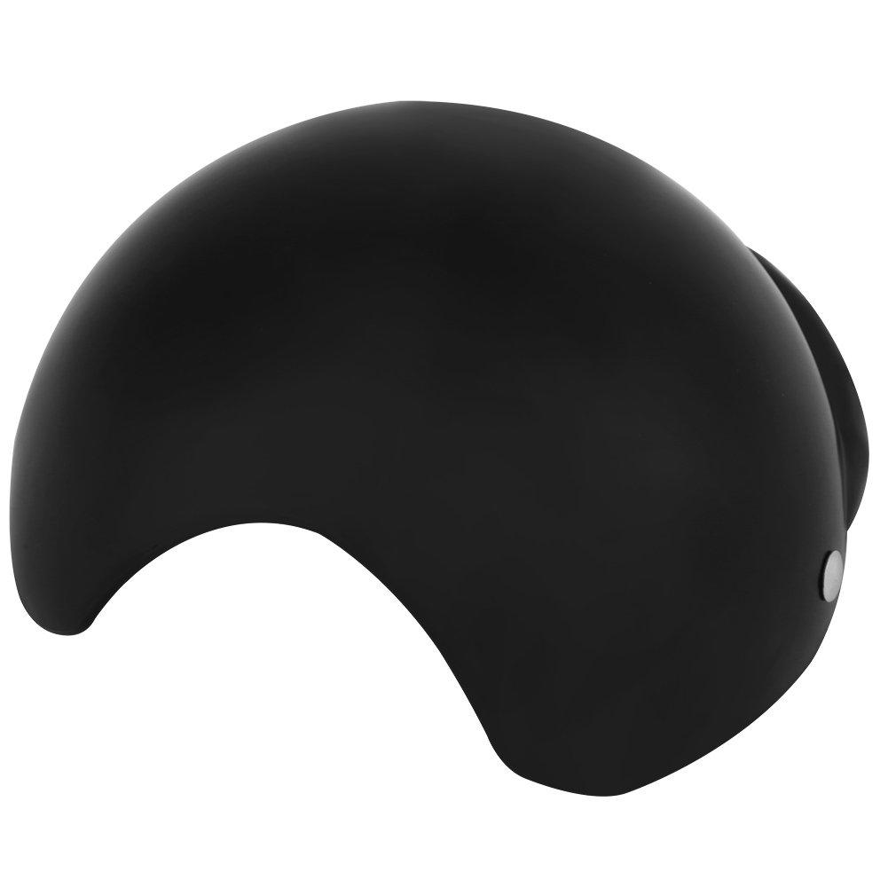 Fdit Casco Cane Berretto Cappello in ABS Plastica Casco da Moto Bicicletta Berretto Cappello per Cane Cucciolo Compagnia Noir M