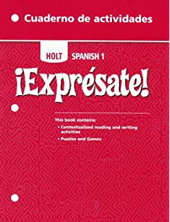 Amazon holt spanish grammar tutor for students of spanish exprsate cuaderno de actividades student edition level 1 fandeluxe Image collections