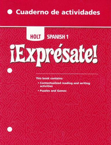 ¡Exprésate!-Cuaderno-de-actividades-Student-Edition-Level-1
