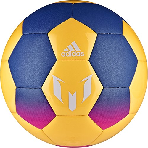 adidas Performance Messi Soccer Ball, Blue/Solar Orange/Shock Pink, Size 5