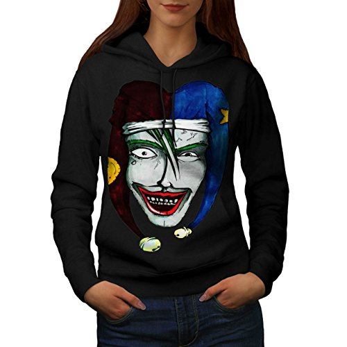 Smiling Scary Clown Joker Laugh Women NEW XXL Hoodie | Wellcoda (Scary Smiling Clown)
