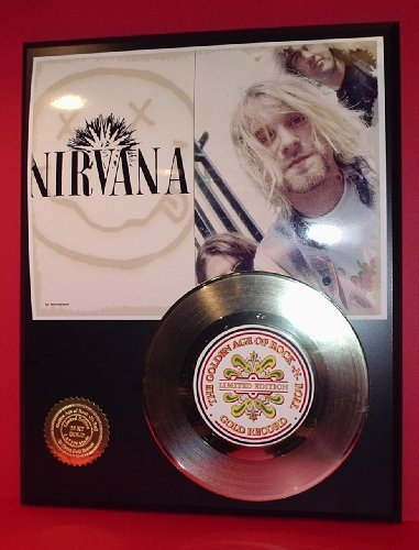 Nirvana 24Kt Gold Record LTD Edition Display Gold Record Outlet