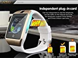 Corelink Bluetooth 8GB Memory Smart Watch Wrist Watch Phone with Camera Touch Screen for Samsung HTC LG Android Phone Smartphone, support SIM Card (Black-APRO)