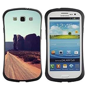 """Hypernova Slim Fit Dual Barniz Protector Caso Case Funda Para SAMSUNG Galaxy S3 III / i9300 / i747 [Rocas de Cliff Road Sandy Brown""""]"""
