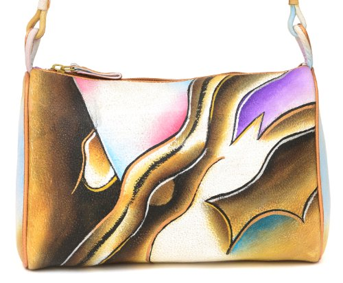 Zimbelmann Lina Sac à main en cuir nappa peint à la main pour femme