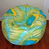 Ahh! Products Lime Multi Tie Dye Printed Cotton Washable Large Bean Bag Chair