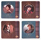 Vandor 81085 Outlander 4 Piece Ceramic Coaster Set, Multicolored