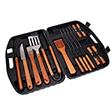 Xena Barbecue Utensils Kit BBQ Tools Set Case Stainless Steel Grill Cooking Outdoor Grilling Utensils Professional Grilling Accessories Bar BQ Brush Spatula Tongs