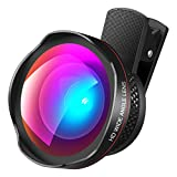 AMIR 2 in 1 Professional HD Camera Lens Kit, 0.6X Super Wide Angle Lens, 15X Macro Lens, Clip-On Cell Phone Lens for iPhone 8/7/7 Plus/6s/6s Plus/6/5, Samsung & Most Smartphones