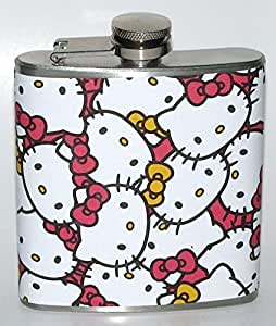 Hello Kitty Pink 6 oz Liquor Bar Hip Flask Flasks Fun Party Birthday Gift