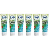 Tom's of Maine Natural Wicked Cool Fluoride Toothpaste, Mild Mint, 4.2 Ounce, Pack of 6