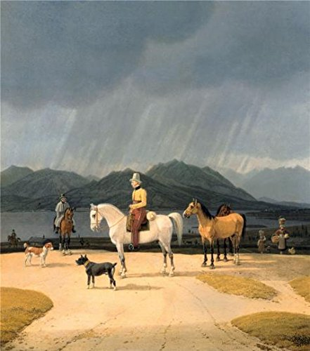 Oil Painting 'Wilhelm Von Kobell-Riders At The Tegernsee,1832' Printing On Perfect Effect Canvas , 20x23 Inch / 51x58 Cm ,the Best Hallway Artwork And Home Decor And Gifts Is This Beautiful Art Decorative Prints On Canvas