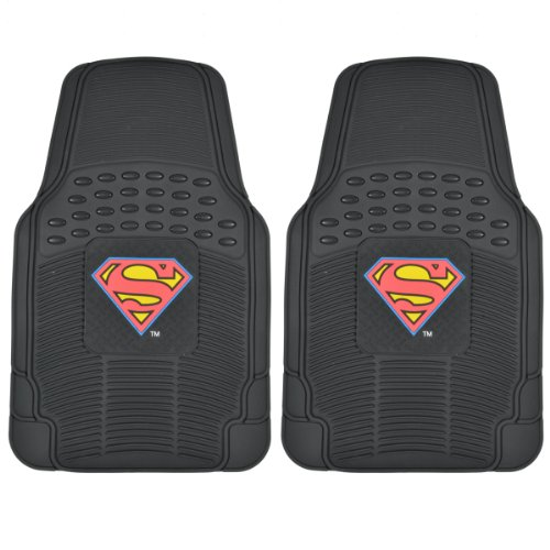 warner-brothers-wbmt-1672-original-superman-rubber-floor-mats-for-car-2-piece-front-trimmable-heavy-