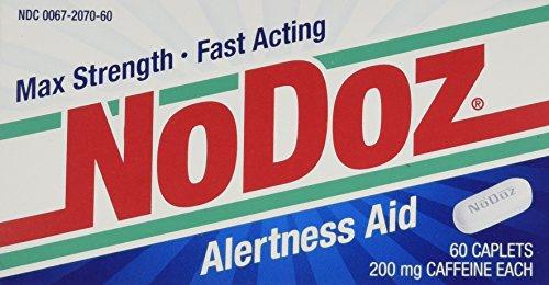 No-Doz Max Strength Fast Acting Alertness Aid, 60 Caplets Caffeine Alertness Aid Tablets