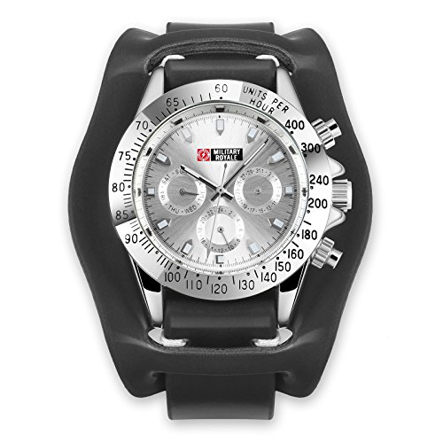 Military Automatic Mechanical Watch Black Leather Analog Men Waterproof Daytona Best Gift for Friends Lovers Family