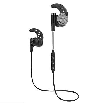 Auriculares Magnéticos Deportivos, YZCX Auriculares Bluetooth 4.1 Correr Inalámbricos Auricular Magnético Ruido de Cancelación In