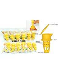 EcoJeannie 12 Pack Citrus Tap Portable Lemon Juicer Faucet Patent Pending Lime Squeezer Juice Extractor BPA Free Hormone Free