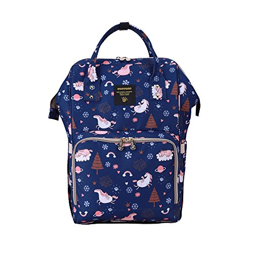 SUNVENO Colorful Diaper Bag Bay Nappy Changing Backpack Mumm