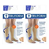 Truform Compression 20-30 mmHg Knee High Open Toe Dot Top Stockings Beige, 2X-Large, 2 Count