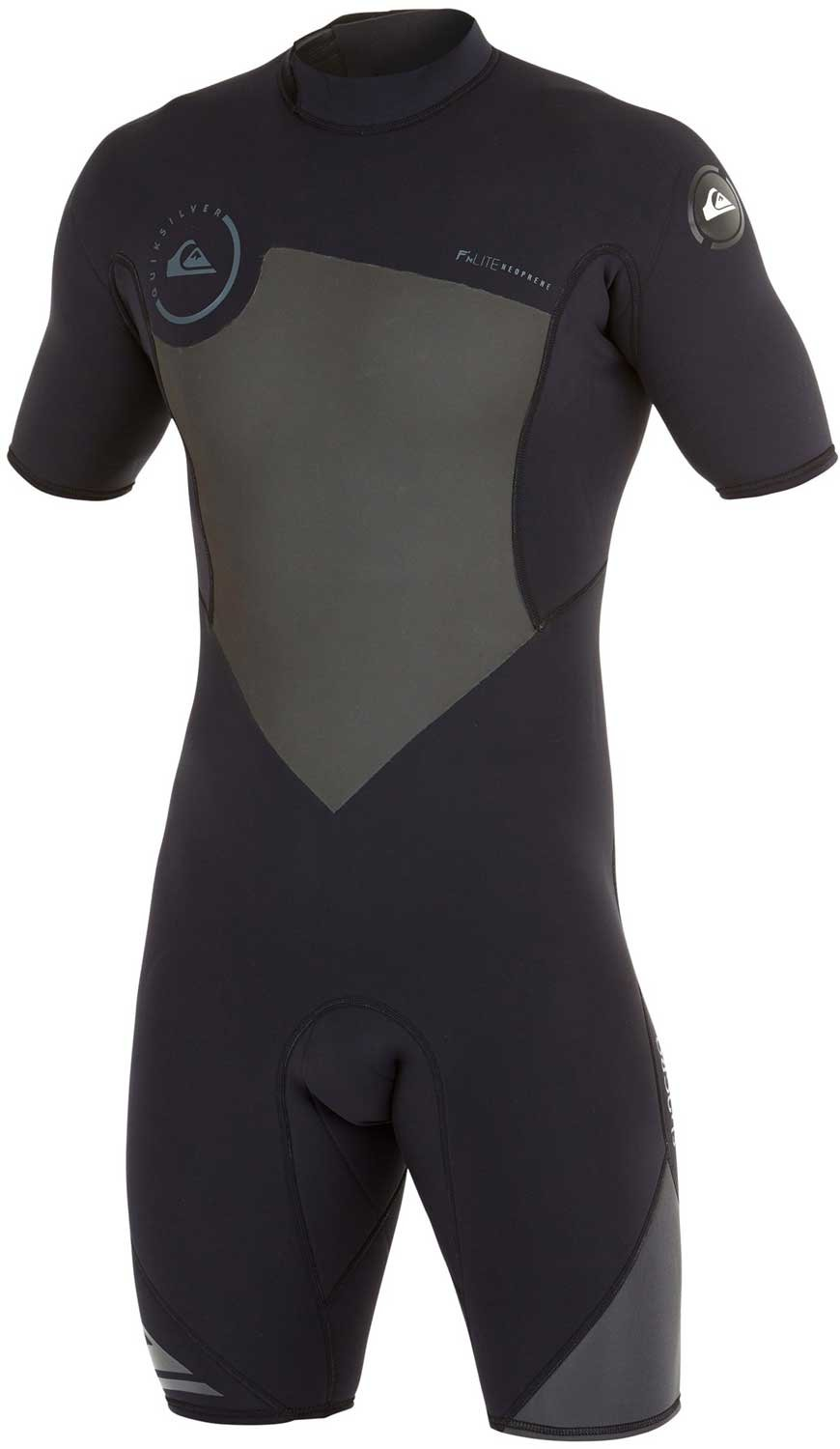 Quiksilver Mens 2/2mm Syncro BZ Springsuit Wetsuit, Black/Graphite, Small by Quiksilver