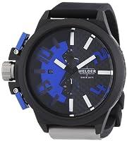 Welder by U-boat K35 Oversize Chronograph Black PVD Steel Mens Watch Blue Dial K35-2503 by Welder