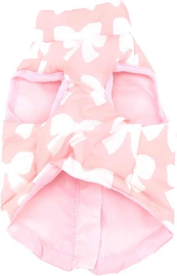 smalllee/_lucky/_store Small Dog Cat Winter Coat Harness Jacket with D-ring Boy Girl Pet Puppy Comfort Padded Bomber Vest No Pull Chihuahua Clothes Pink Leopard XS