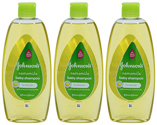 Johnsons Baby Shampoo No More Tears with Chamomile for Light Shiny Hair 10.1 Ounces / 300 Ml (Pack of 3)