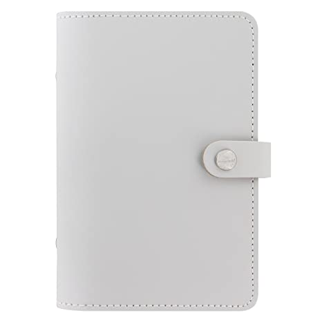 Filofax The Original Leather Organizer Agenda Calendar with DiLoro Jot Pad Refills (Personal, Stone ND)