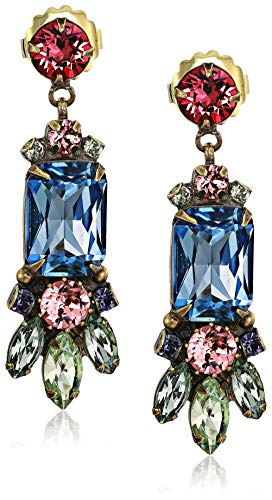 Sorrelli Women's Crystal Petal Drop Earring, Multi, 2