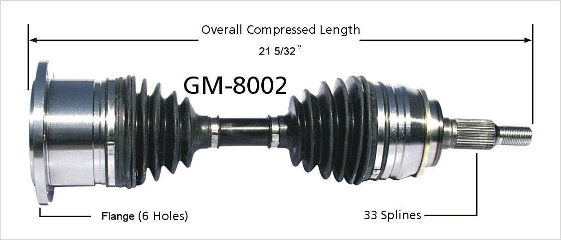 SurTrack SK-8022 CV Axle Shaft