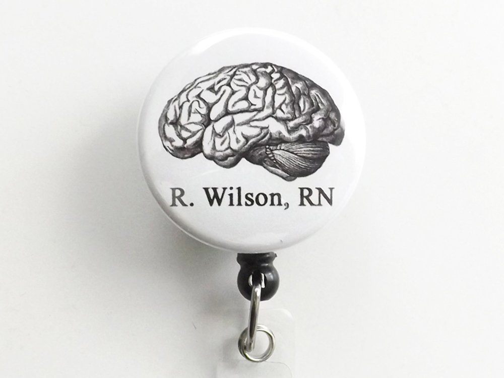 Custom Anatomy ID badge holder retractable reel physician assistant nurse practitioner medical school graduation