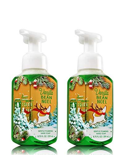Hand Warm Vanilla Soap Sugar (Bath & Body Works, Gentle Foaming Hand Soap, Vanilla Bean Noel (2-Pack))