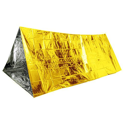 Supow Tm New Foldable Gold Emergency Blanket Rescue Solar