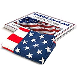 High Supply American Flag US Flag - 100% Made in USA Flag - 3x5 FT American Flags/USA Flags/Office Flags/Tough American Flag Banner for Outside/Amercan Flag/American Flgs/US Flags/American Flag 3x5