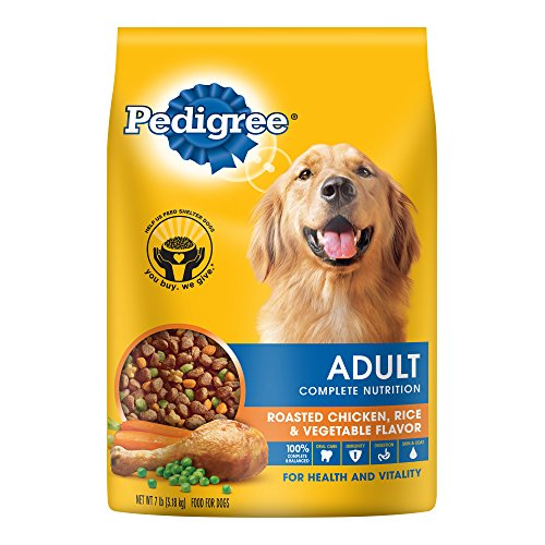 PEDIGREE Adult Roasted Chicken, Rice & Vegetable Flavor Dry Dog Food 7 Pounds