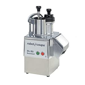 Robot Coupe CL50GOURMET Single-Speed Cutter Mixer Continuous Feed Commercial Food Processor with Side Discharge, 120v